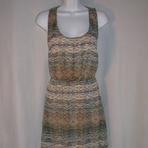 UO Staring At Stars Aztec  T-Back High-Low Dress M